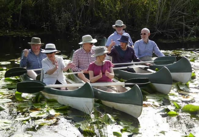 Honeyguiders in canoes, South Africa's Garden Route