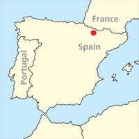 Spanish Pyrenees map